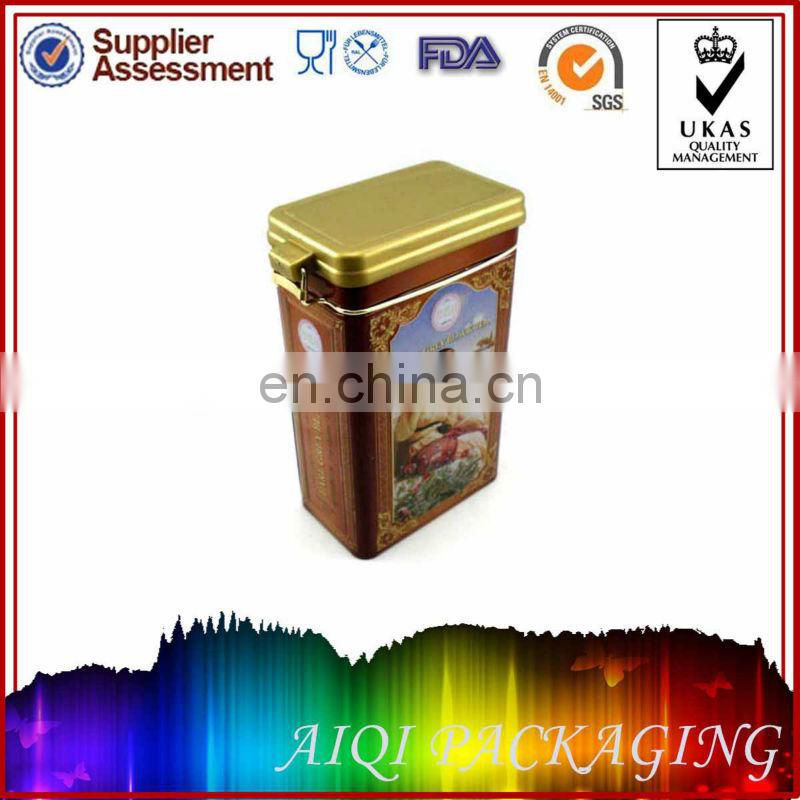 Round metal cylinder tin box for coffee packaging