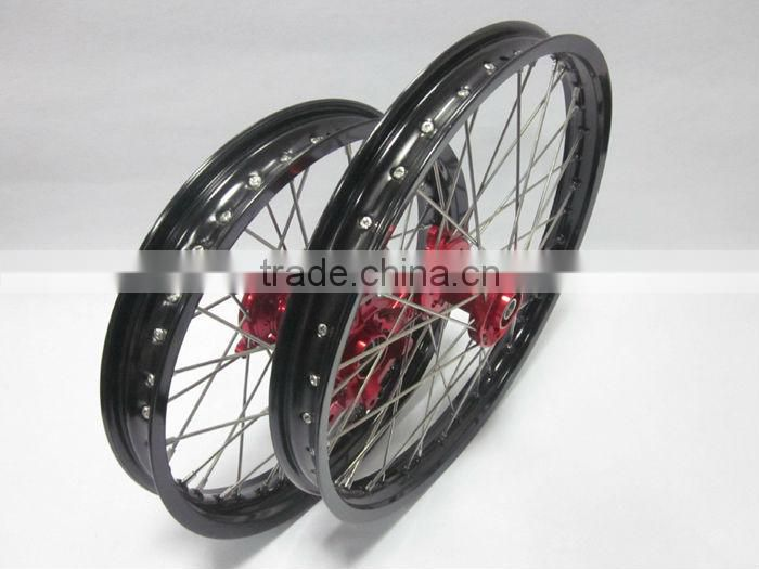 "Prowel Racing Off Road motorcycle wheel 1.6x21""/2.15x19"" COMPLETE WHEELS SET Dirt bike rims and hub For Honda CRF"