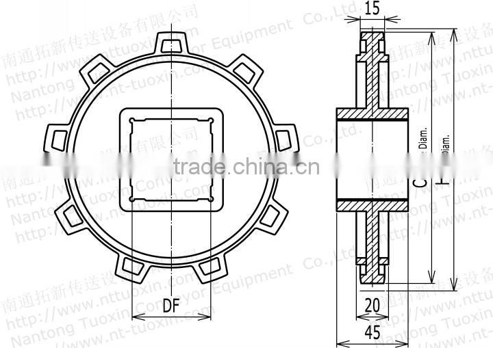 Plastic Sprocket for 4809 Plastic Conveyor Belt