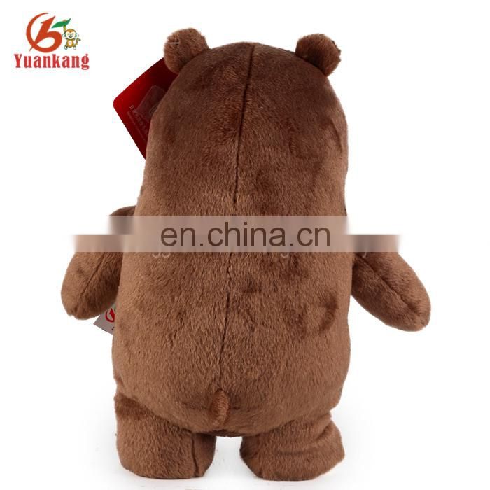 China Plush Toys Cheap Standing Grey Grizzly Teddy Bear Plush Toys For Crane Machines