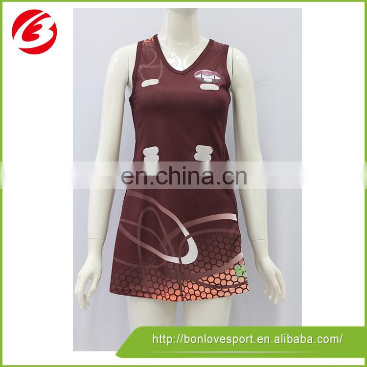 2015 colorful top custom made netball jersey ladies netball skirts
