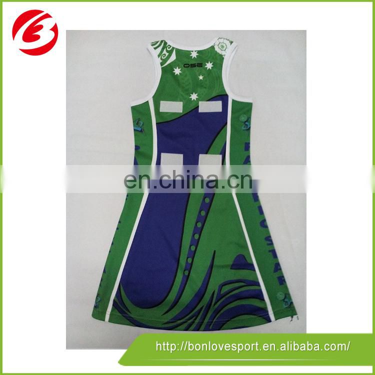 2015 cheap high quality sublimation netball jerseys