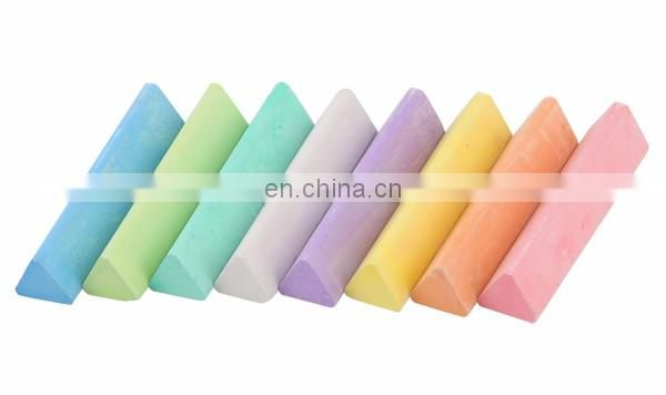 Licheng LCK078 Large Chalk, 8 Count Triangular Coloured Chalk