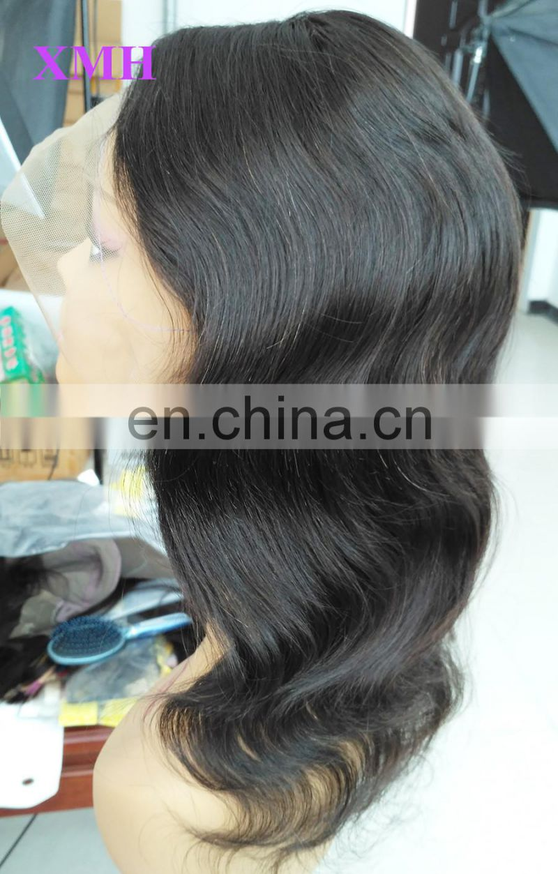 100% Natural Full Lace Human Hair Wig, Unprocessed Indian Women Hair Wig, Super Quality No Synthetic Wig