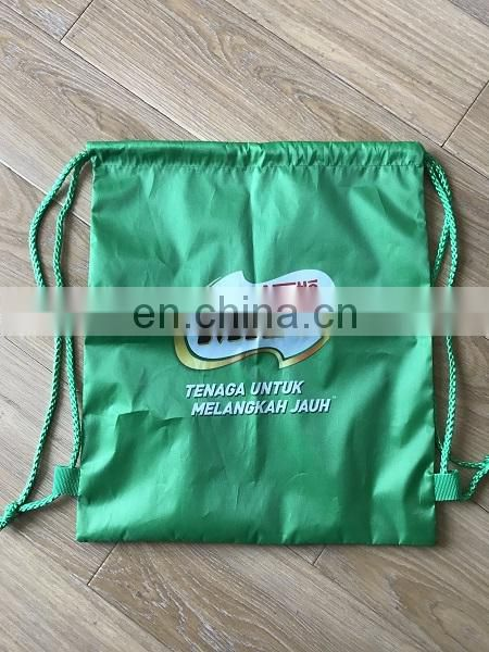 free samples TCCC AUDITY FACTORY cheap Heat Transfer promotional drawstring bags