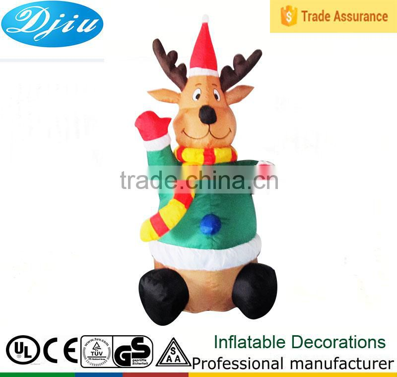 DJ-176 6 foot New inflatable christmas deer decoration airblown outdoor