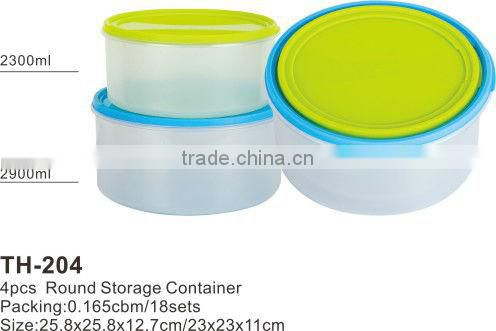 Round plastic food strorage lunch box and food container meal prep containers boite a vivres die Kasserolle