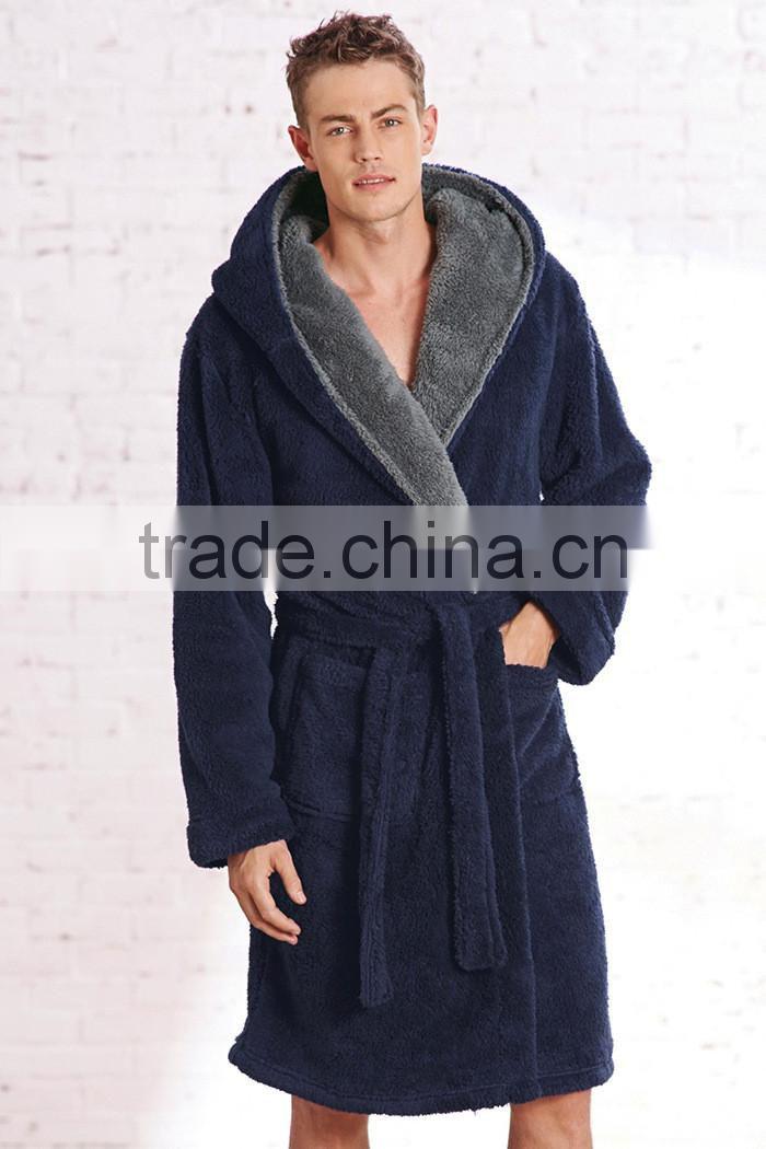 b4d976740d 100% polyester shaggy fleece men s robe