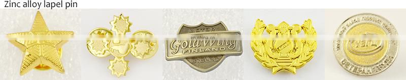 Badge Factory Direct Odm Free Sample Metal Bronze Enamel Custom Kids Badges