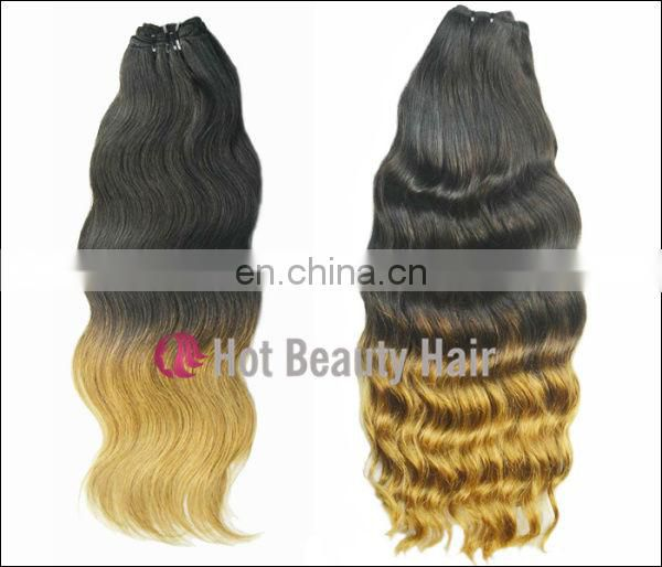hair extension ombre weave still can be dyed to other color and do other styles