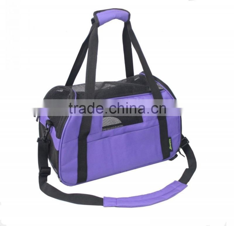 Purple Waterproof Outdoor Pet Travel Pet Carrier