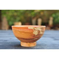 Unique Peacock Glaze ceramic Bowl with gradient color, for personal use or collection or cultural gift Image