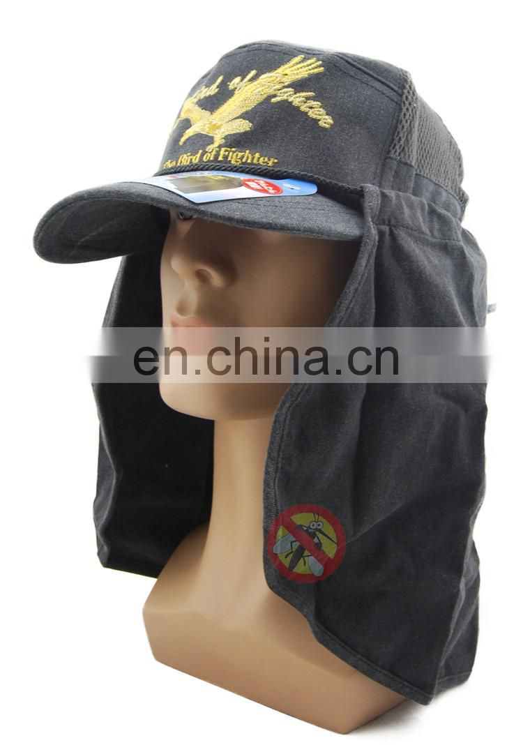 Outdoor hiking cap with uv cut and insecticide