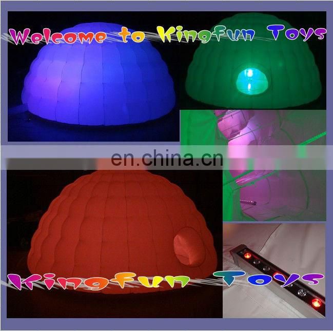 2.5m LED inflatable cube for photo