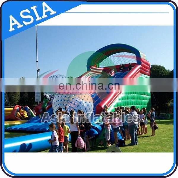 inflatable zorb ball ramp zorb ball slide