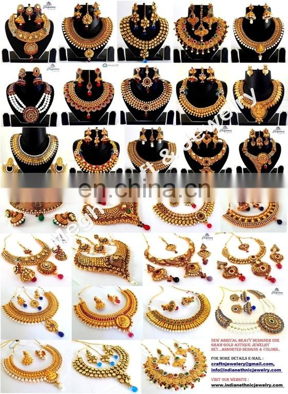 One gram gold jewellery-Bollywood fashion jewelry-Wholesale Indian Ethnic bridal jewellery-Imitation jewellery-bridal jewellery