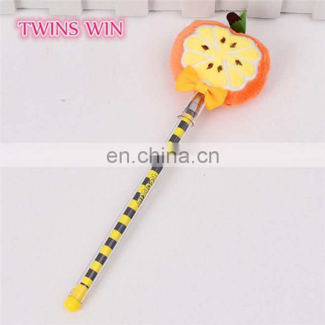Cambodia 2018 Hot selling cute cheap mini pens fruit shaped gel ink pen stationary for school