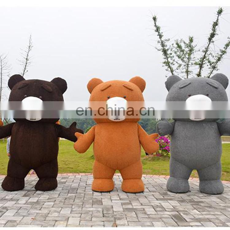 One pc MOQ high quality customized bear inflatable mascot costume