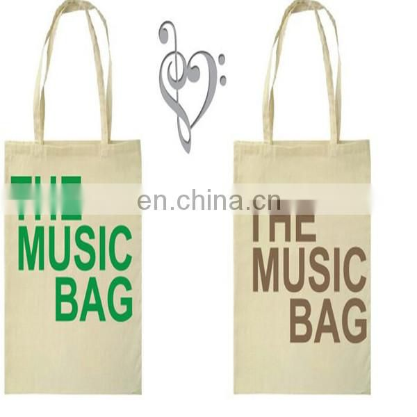 2015 Hot sale Cotton Canvas Tote Bags high quality logo printed
