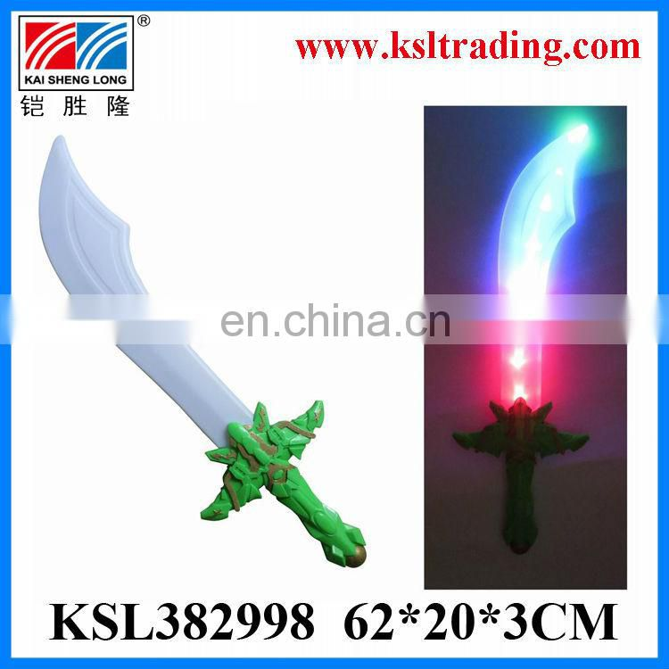 Eco-Friendly plastic toy sound and light flash sword toy