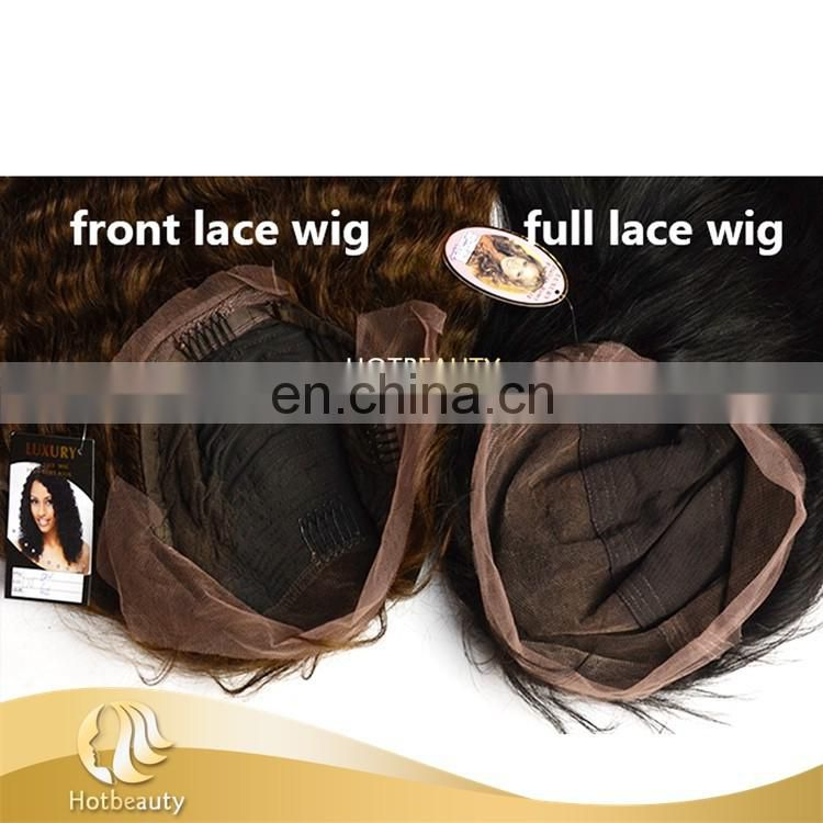 Hot beauty hair 100% raw unprocessed virgin human full lace wig