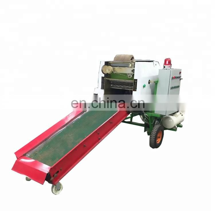 plastic film wrapped corn silage baler machine green silage round baling machine for forage storage round bale coating machine