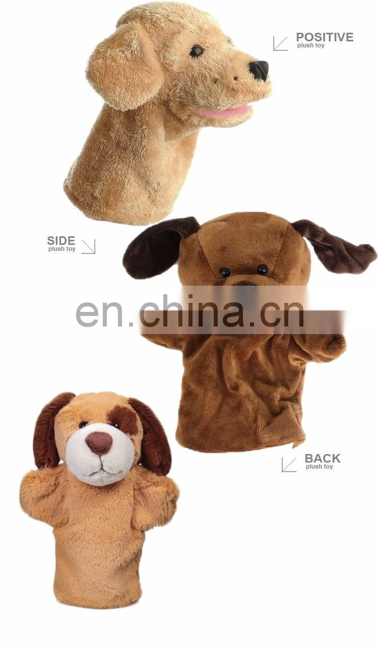 China Manufacturer Plush Finger Puppets Animal Toys