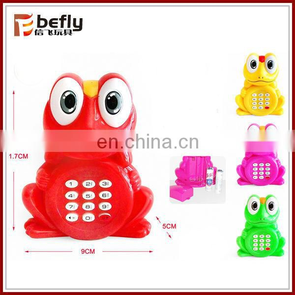 Frog electric toy telephone with light