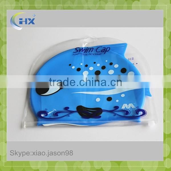 High Quality Fish Shape Silicone Funny Swimming Cap For Kids