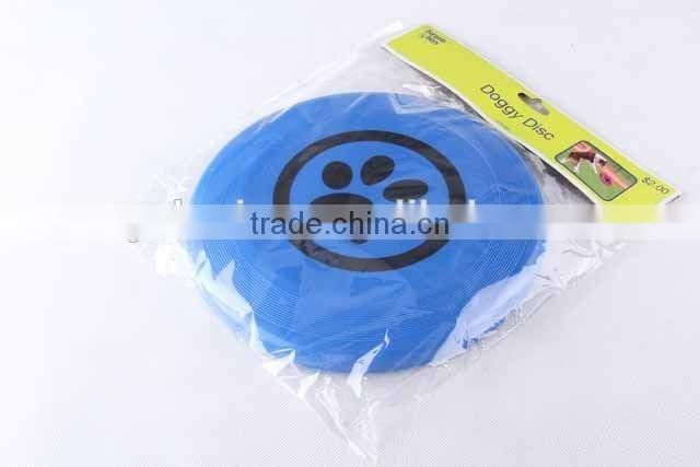 TPR pet toy plastic frisbee with footprint pattern /hot sale dog toy