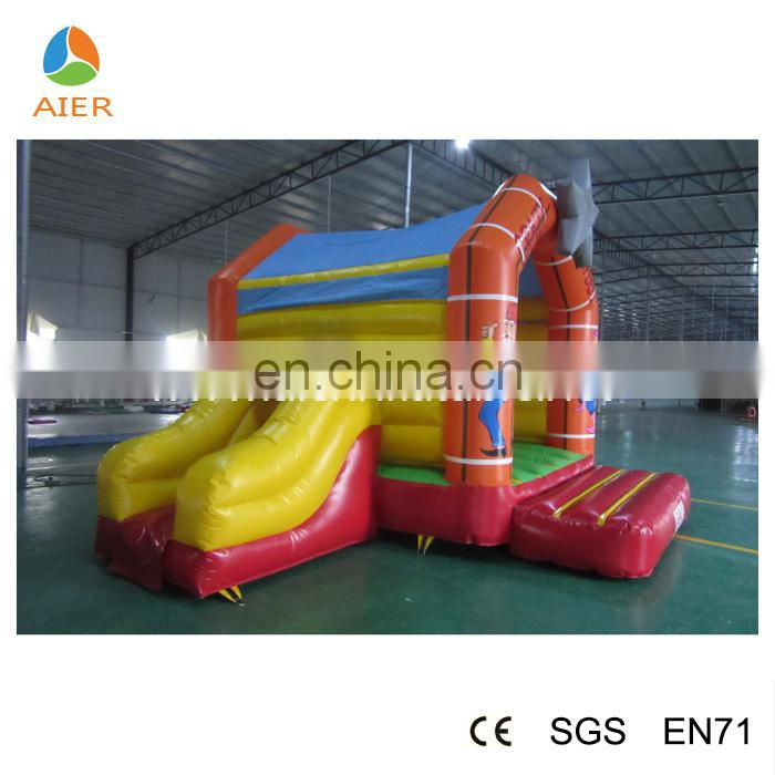 Hot sale inflatable bouncer with slide,inflatable west cow boy,jumping bouncer with slide