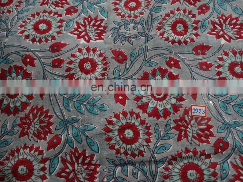 Cotton Fabric Hand Block Print Sewing Cotton Natural Print Fabric