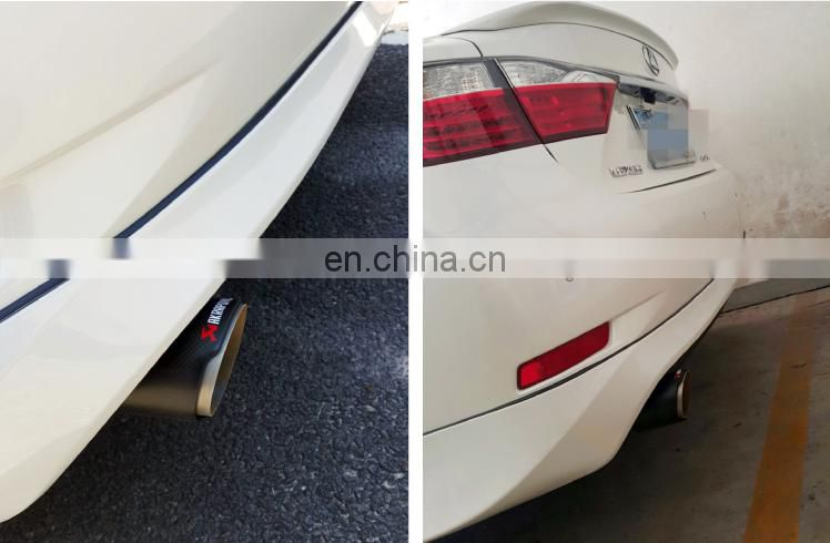 Universal muffler tail tip carbon fiber exhaust pipe wholesale