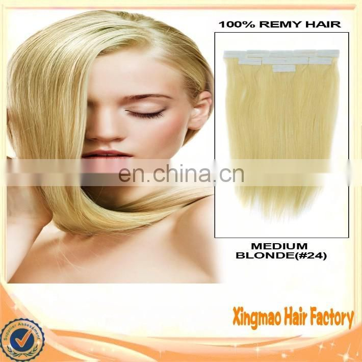 Top Purchase Double Drawn Brazilian Remy Human Tape Hair Extension Straight Full Cuticle 6A Wholesale Brazilian Remy Hair