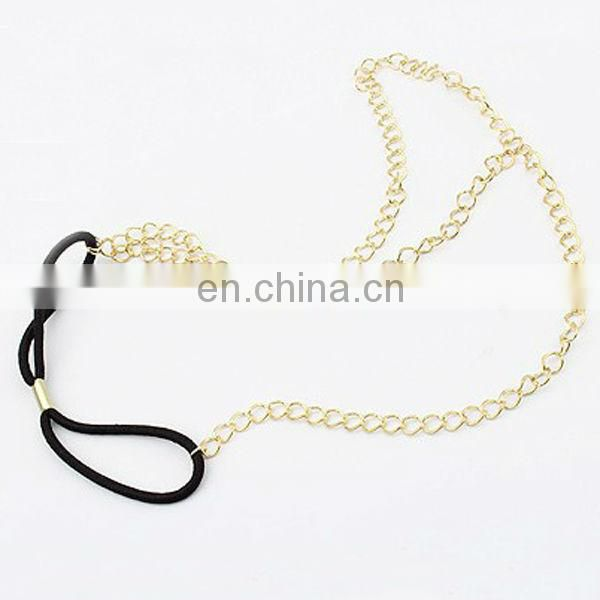 Trendy cool gold chain men fashion headbands