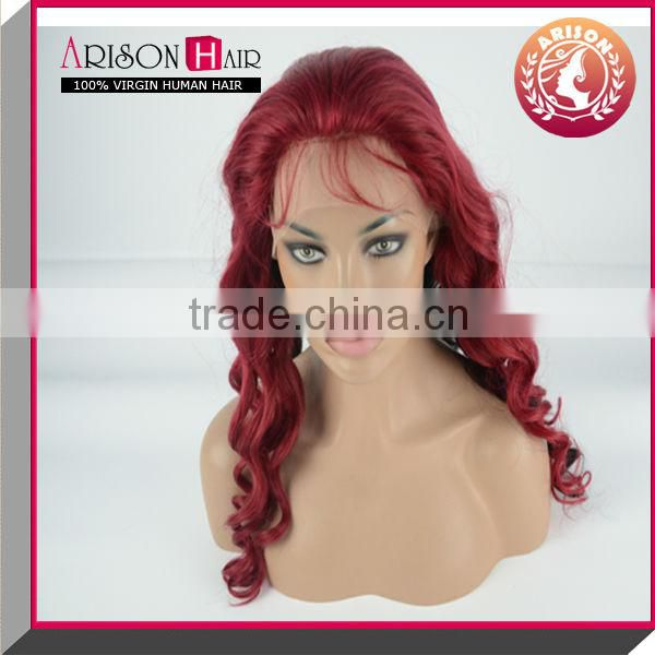 Wholesale body wave fashionable brazilian hair lace front wig