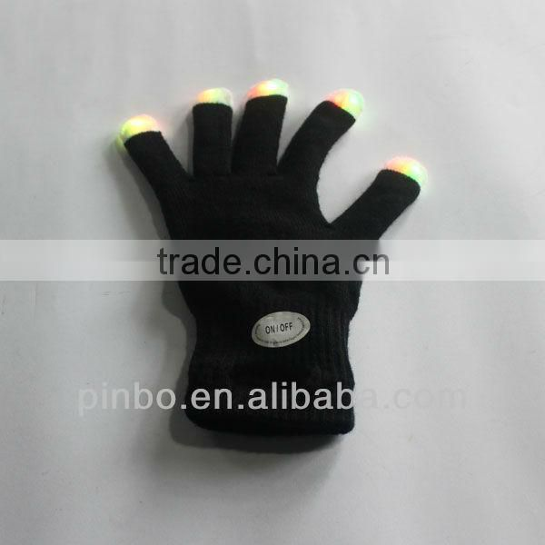 black led light gloves