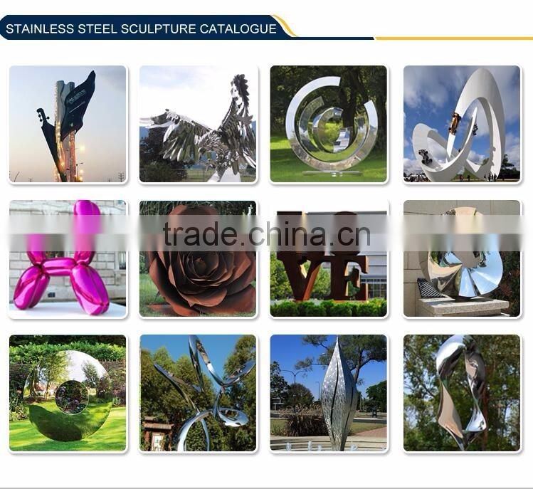 Modern Garden Decor Large Sail Stainless Steel Sculpture