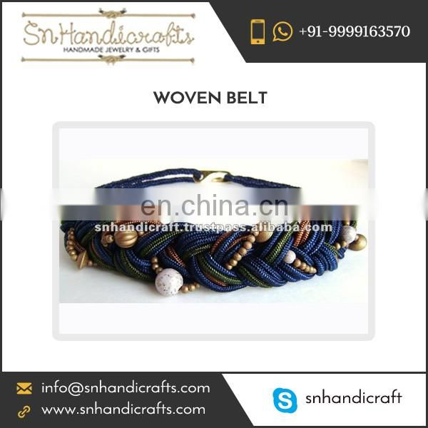 Beaded Woven Knitted Stretchable Belt for Bulk Purchase