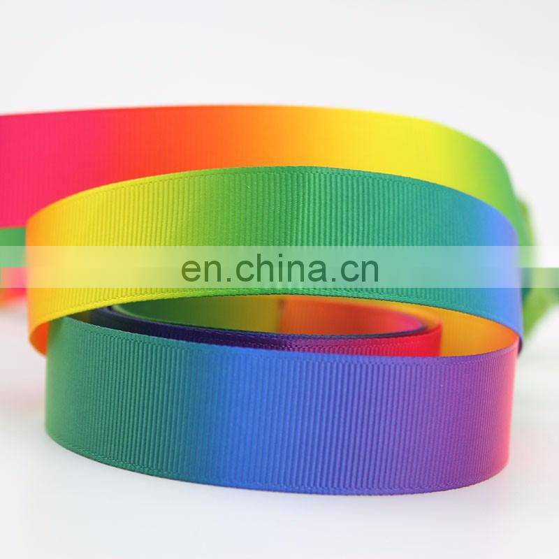 "Grosgrain Ombre Colourful Rainbow Ribbon 7//8/"" 22mm DIFFERENT COLOURS"