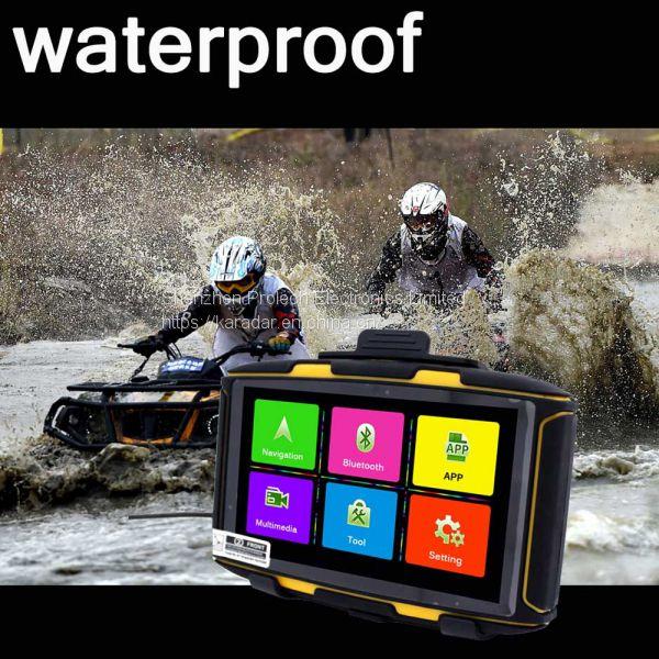 5 inch Best Motorcycle GPS Navigator Waterproof IPX7 Ublox 8