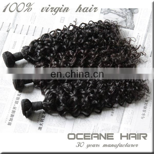 Unprocessed 100% virgin most fashionable cheap curly human hair weaving