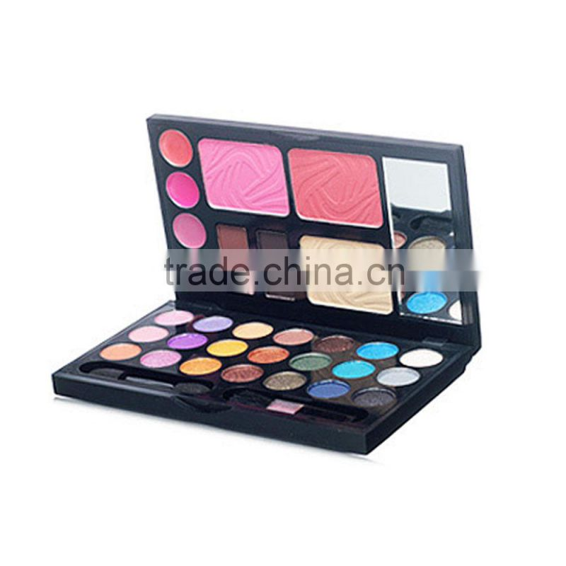 cool box 24 colors eyeshadow makeup set including blusher & face powder & lip gloss Image