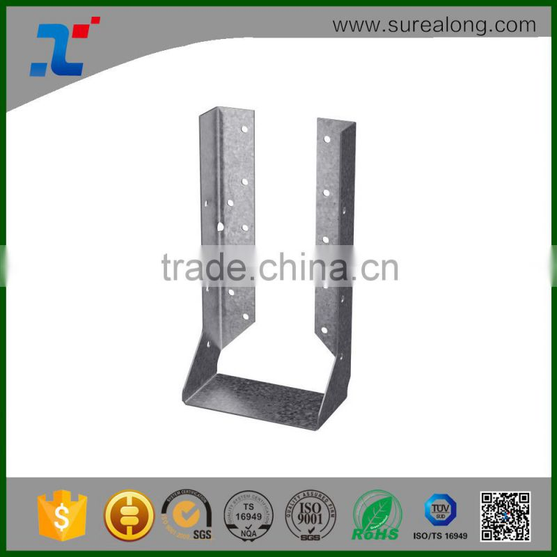 Wood Construction Joist Hanger Mounting Nail Plates L shaped Steel ...