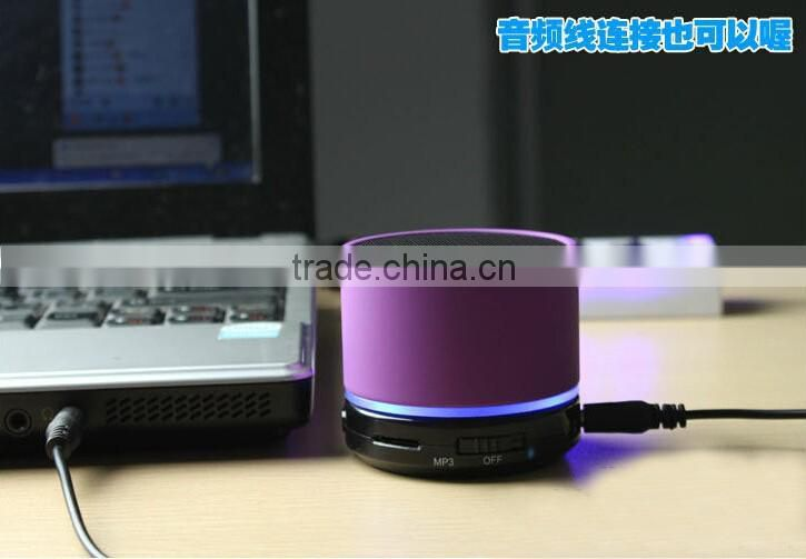 Portable S11 Mini speaker Wireless Bluetooth 3.0 HIFI speakers LED with Strong bass Support TF Card For Phones