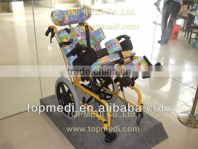 Physical Therapy Equipments ALUMINUM BRAIN PARALYSIS WHEELCHAIRS FOR CHILDREN, Pediatric wheelchair