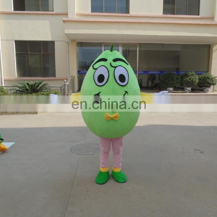 Factory direct sale customized avocado mascot costume for adult