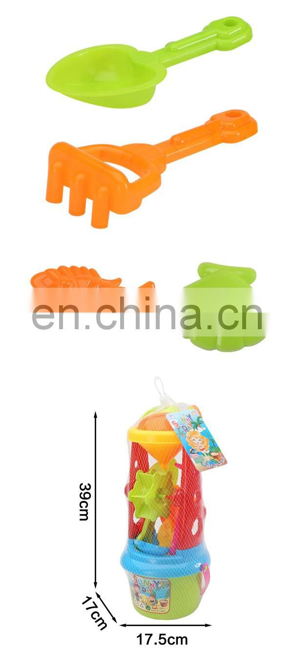 Hot selling plastic summer hourglass sand beach toys set