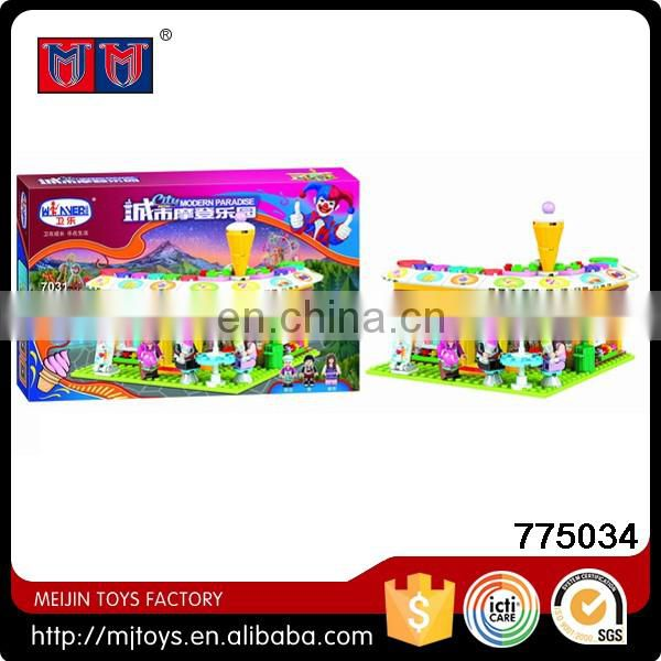 Hot selling City Modern 705pcs Plastic Construction Toy Building Blocks with lights Play Set for kids