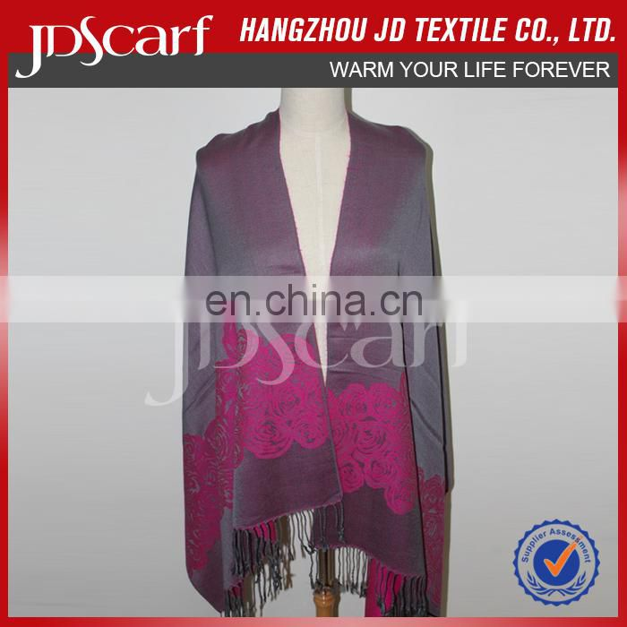 BSCI factory soft cashmere custom new ladies jacquard fashionable autumn scarf